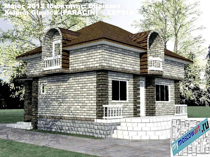 Проект дома - Диямант (Деревня Главица - Сербия) (2)