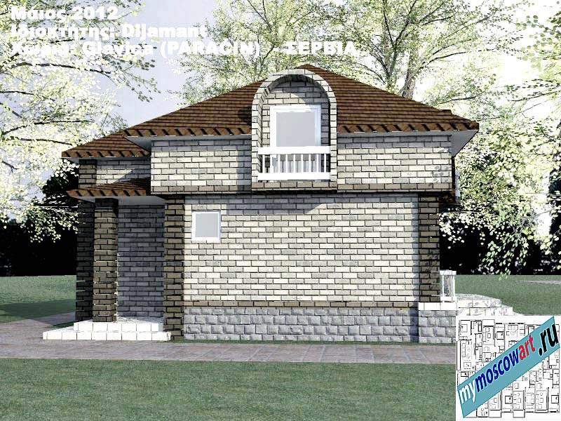 Проект дома - Диямант (Деревня Главица - Сербия) (3)