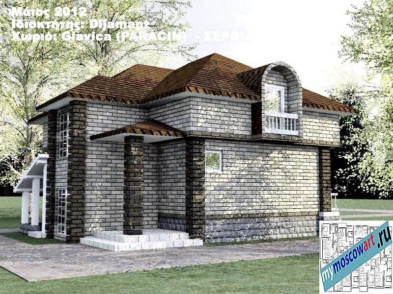 Проект дома - Диямант (Деревня Главица - Сербия) (4)