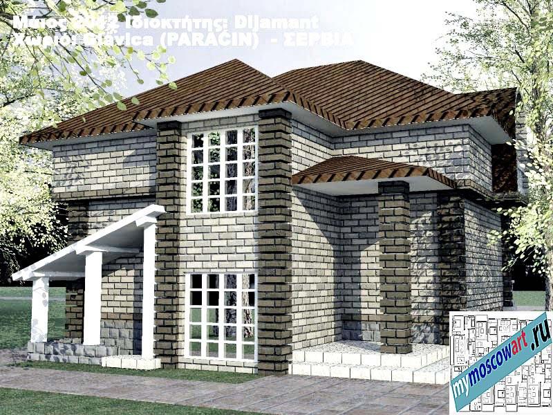 Проект дома - Диямант (Деревня Главица - Сербия) (5)