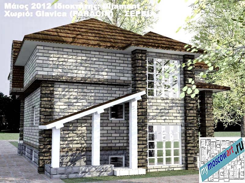 Проект дома - Диямант (Деревня Главица - Сербия) (7)
