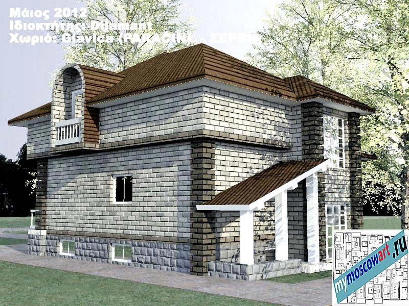 Проект дома - Диямант (Деревня Главица - Сербия) (8)