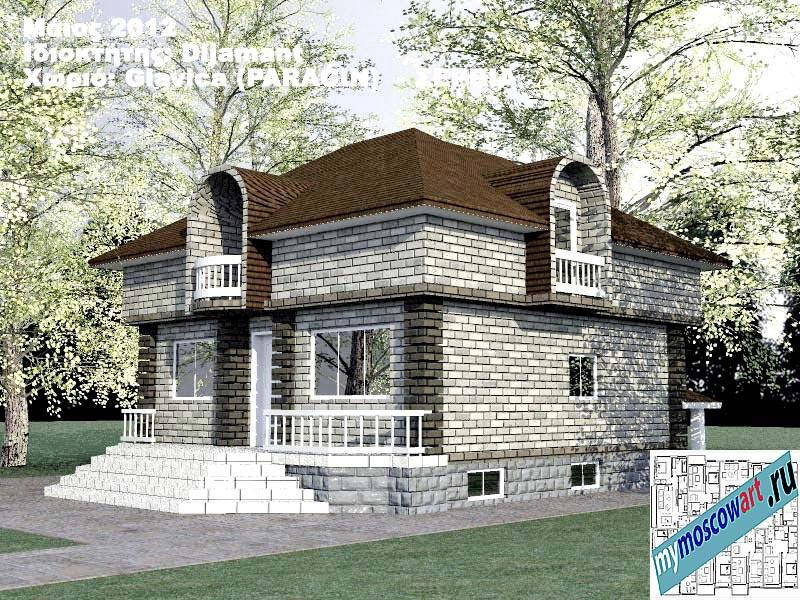 Проект дома - Диямант (Деревня Главица - Сербия) (10)