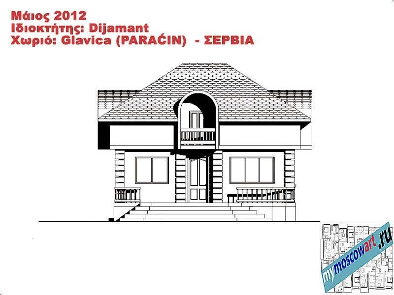Проект дома - Диямант (Деревня Главица - Сербия) (11)