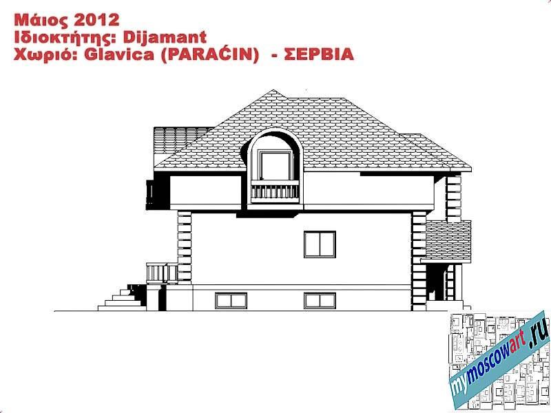 Проект дома - Диямант (Деревня Главица - Сербия) (12)