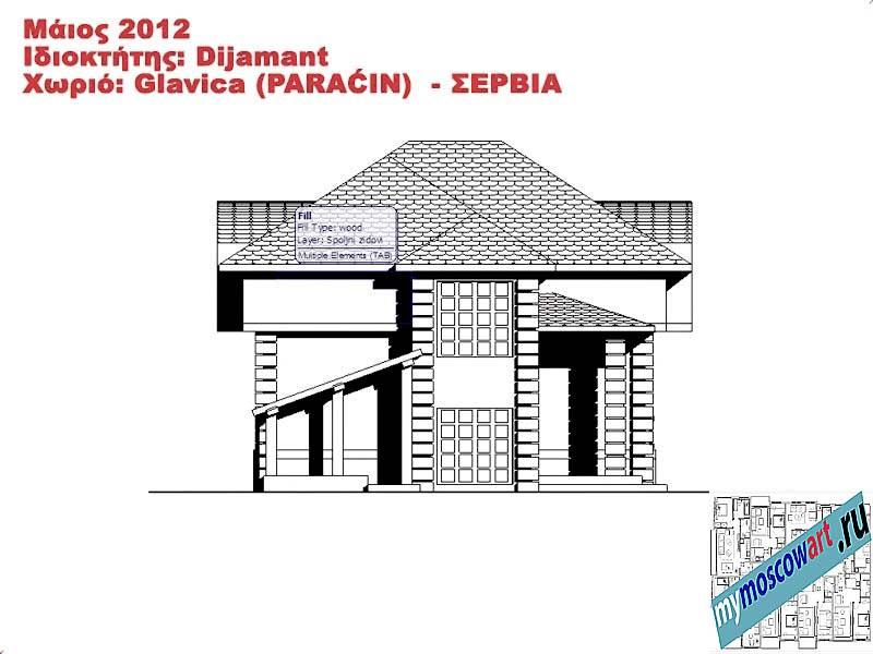 Проект дома - Диямант (Деревня Главица - Сербия) (13)