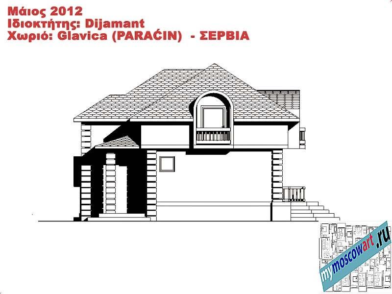 Проект дома - Диямант (Деревня Главица - Сербия) (14)