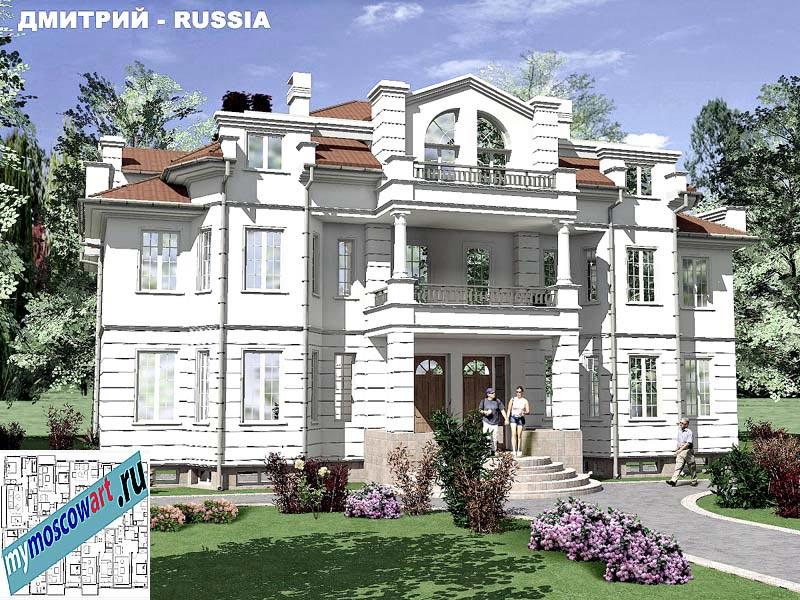 Проект дома - Димитрий (Город Москва - Россия) (1)
