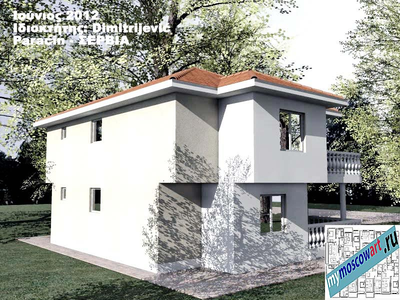 Проект дома - Димитриевич (Город Парачин - Сербия) (9)