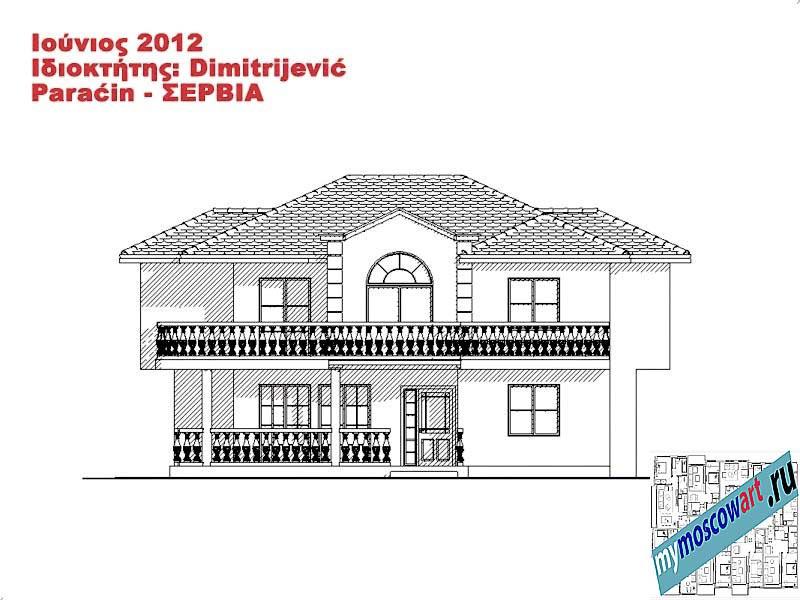 Проект дома - Димитриевич (Город Парачин - Сербия) (11)