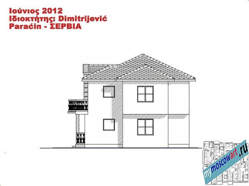 Проект дома - Димитриевич (Город Парачин - Сербия) (12)