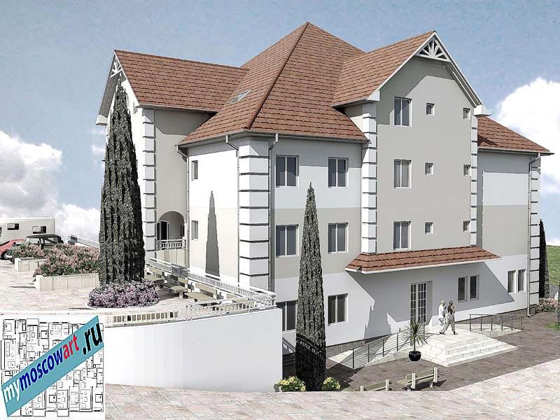 Проект дома для престарелых - Панич (Город Вршац - Сербия) (4)