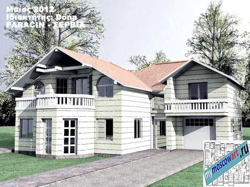 Проект дома - Дона (Город Парачин - Сербия) (3)