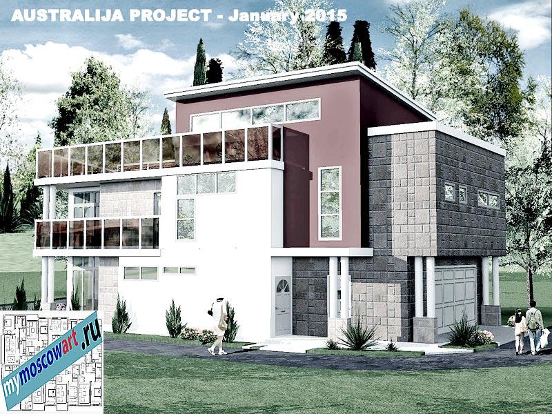 Проект дома - Томас (Город Шеллхарбор - Австралия) (7)