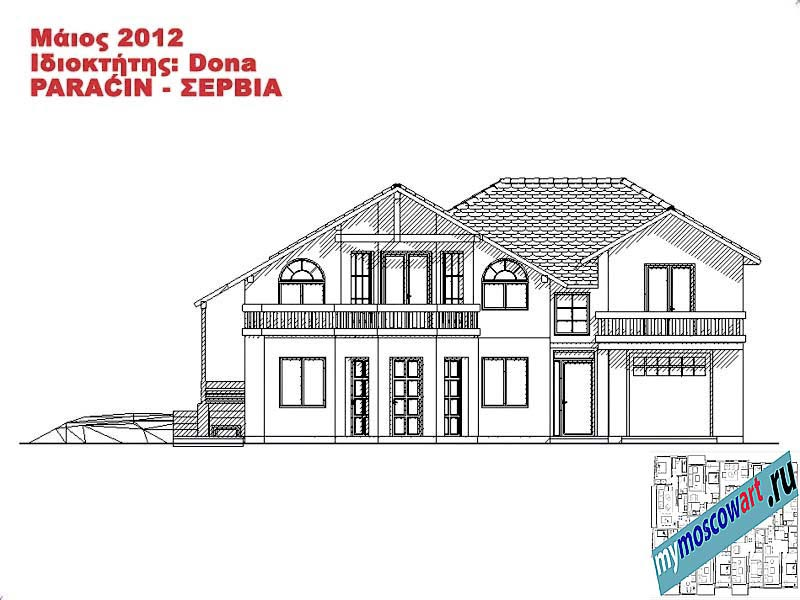 Проект дома - Дона (Город Парачин - Сербия) (11)