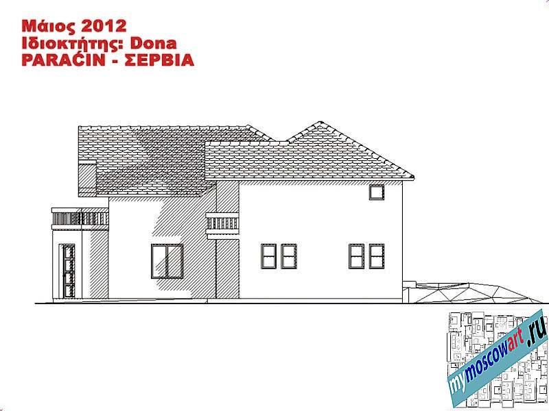 Проект дома - Дона (Город Парачин - Сербия) (12)