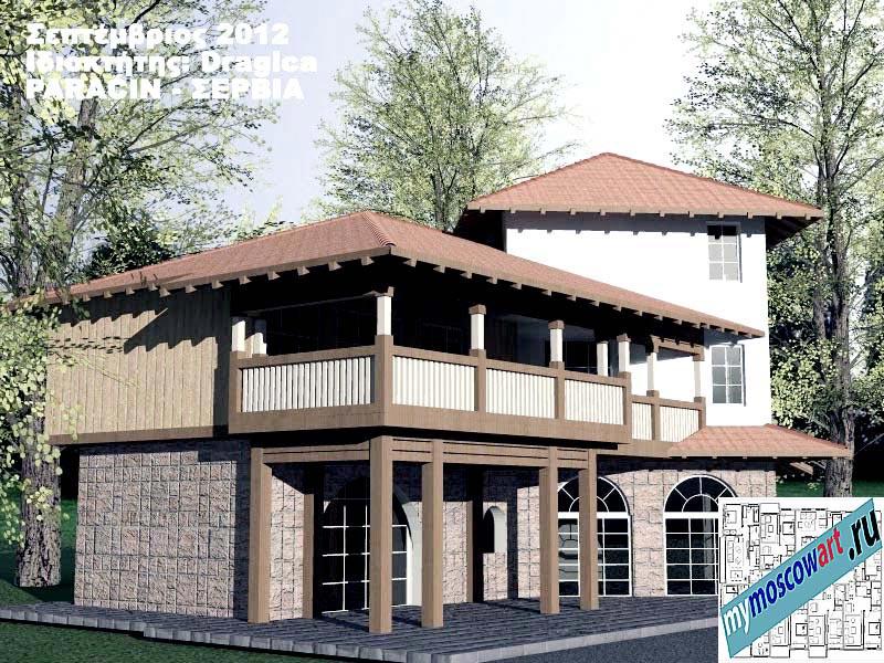 Проект дома - Драгица (Деревня Болевац - Сербия) (1)