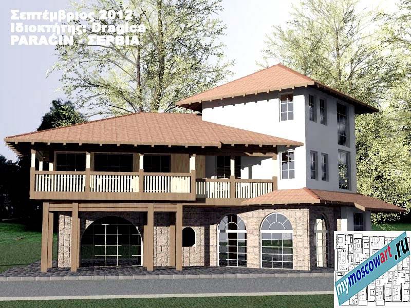 Проект дома - Драгица (Деревня Болевац - Сербия) (3)