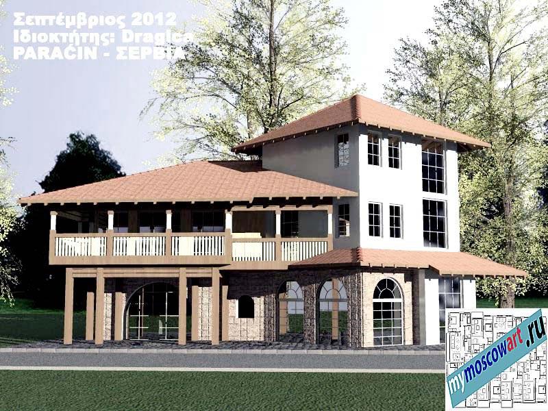 Проект дома - Драгица (Деревня Болевац - Сербия) (4)