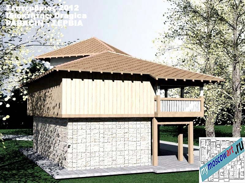 Проект дома - Драгица (Деревня Болевац - Сербия) (10)