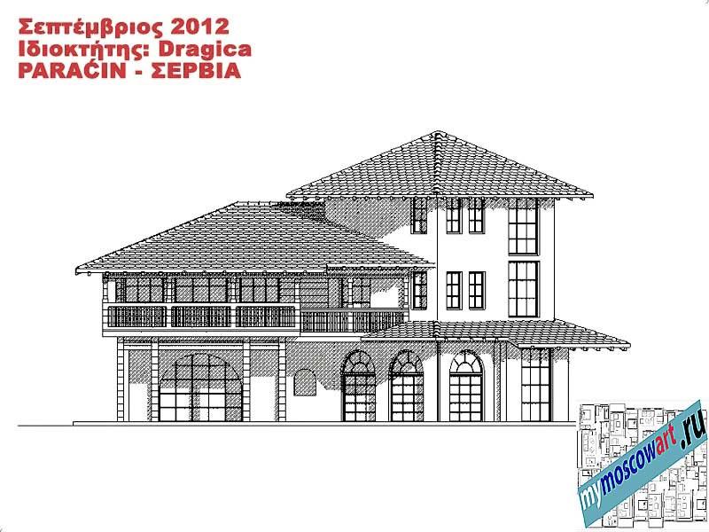 Проект дома - Драгица (Деревня Болевац - Сербия) (11)