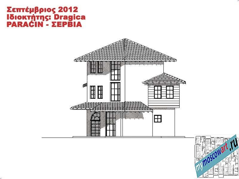 Проект дома - Драгица (Деревня Болевац - Сербия) (12)