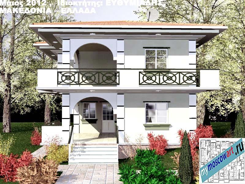 Проект дома - Ефимиадиc (Город Аспровальта - Греция) (1)