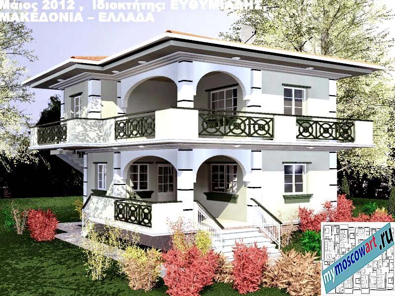 Проект дома - Ефимиадиc (Город Аспровальта - Греция) (3)