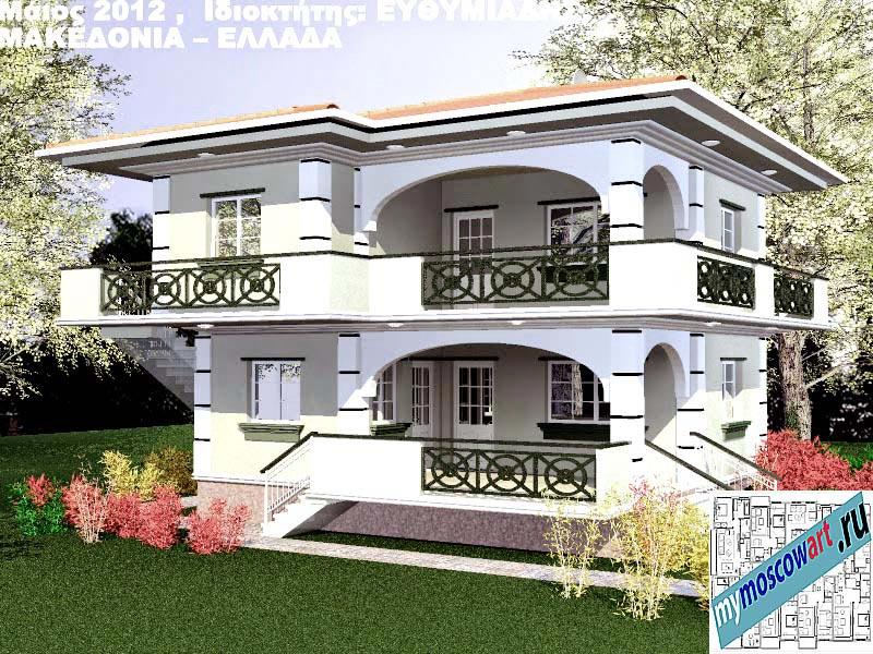 Проект дома - Ефимиадиc (Город Аспровальта - Греция) (4)