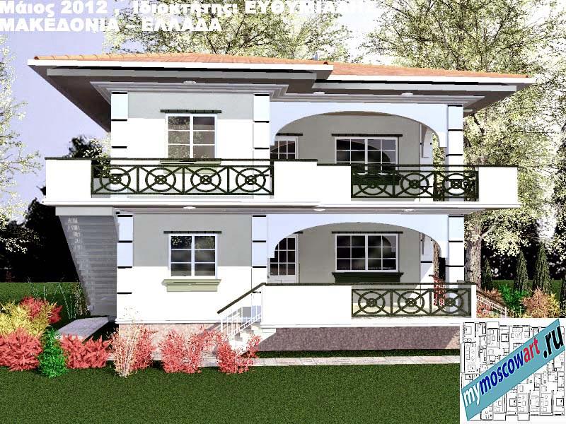 Проект дома - Ефимиадиc (Город Аспровальта - Греция) (6)