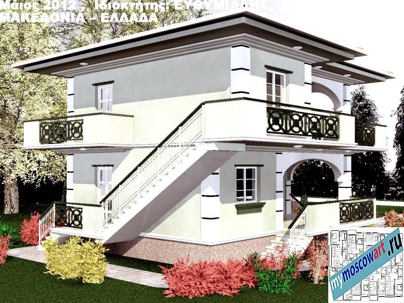 Проект дома - Ефимиадиc (Город Аспровальта - Греция) (8)