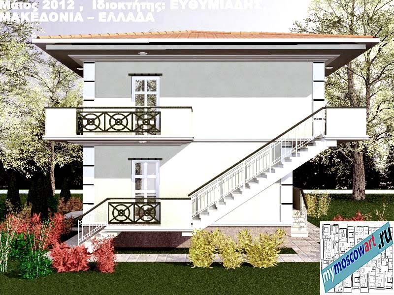 Проект дома - Ефимиадиc (Город Аспровальта - Греция) (9)