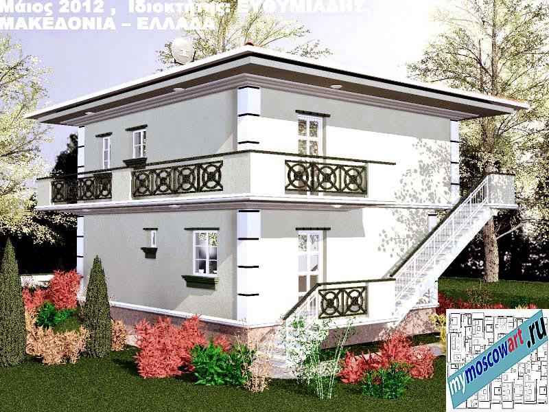 Проект дома - Ефимиадиc (Город Аспровальта - Греция) (10)