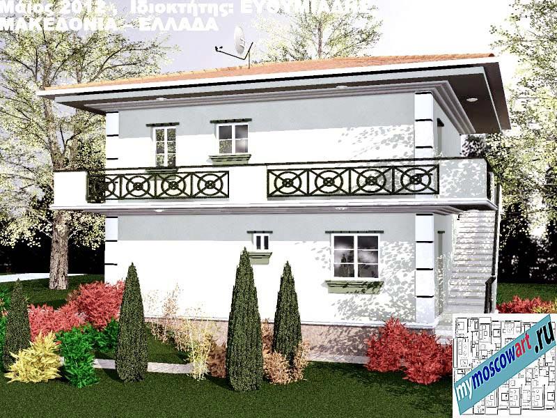 Проект дома - Ефимиадиc (Город Аспровальта - Греция) (11)