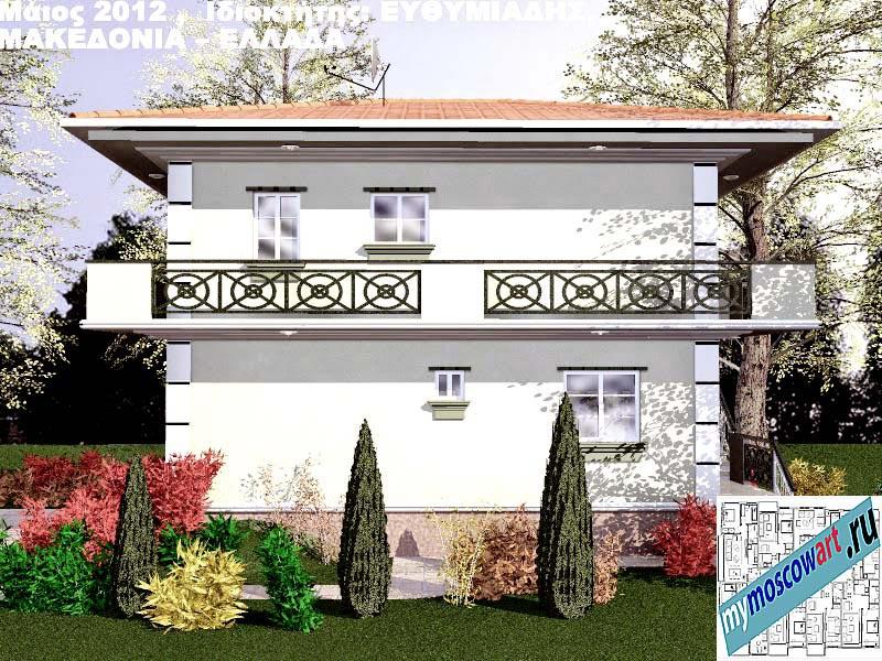 Проект дома - Ефимиадиc (Город Аспровальта - Греция) (12)