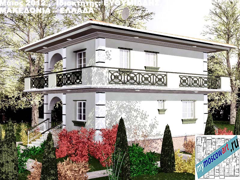 Проект дома - Ефимиадиc (Город Аспровальта - Греция) (13)