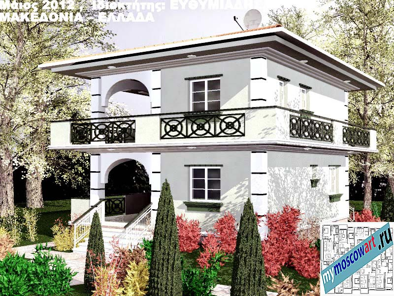 Проект дома - Ефимиадиc (Город Аспровальта - Греция) (14)