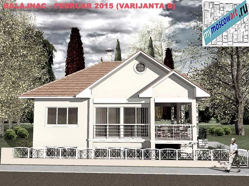 Проект дома - Милан (Деревня Балайнац - Сербия) (1)