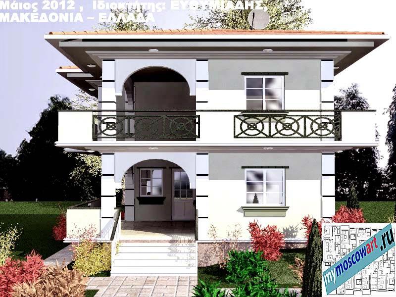 Проект дома - Ефимиадиc (Город Аспровальта - Греция) (15)