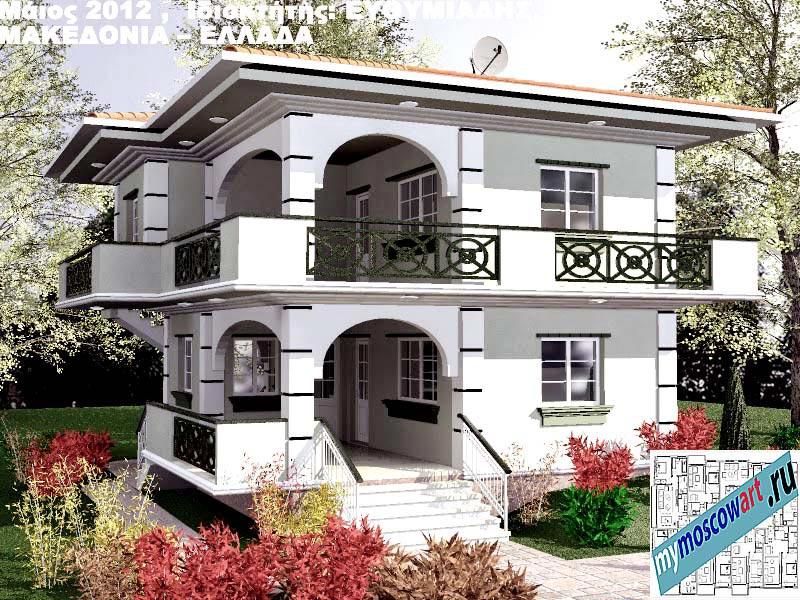 Проект дома - Ефимиадиc (Город Аспровальта - Греция) (16)