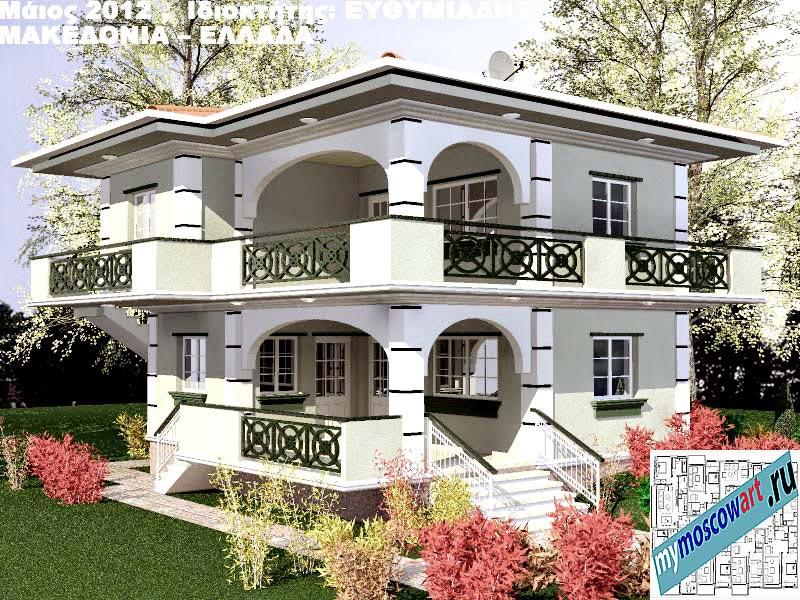 Проект дома - Ефимиадиc (Город Аспровальта - Греция) (17)
