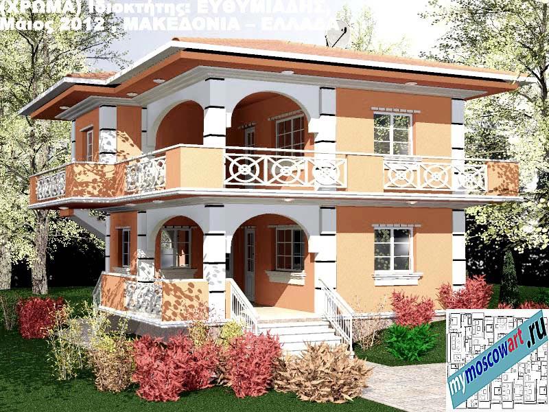 Проект дома - Ефимиадиc (Город Аспровальта - Греция) (22)