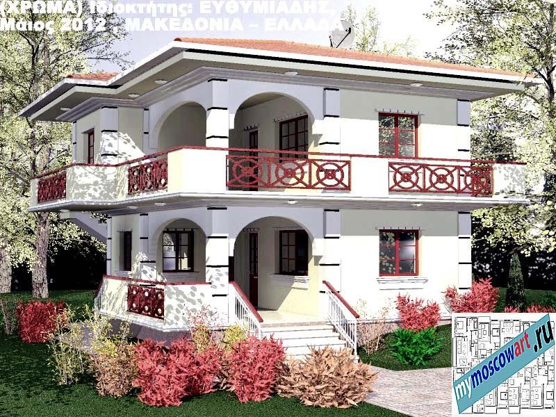 Проект дома - Ефимиадиc (Город Аспровальта - Греция) (23)
