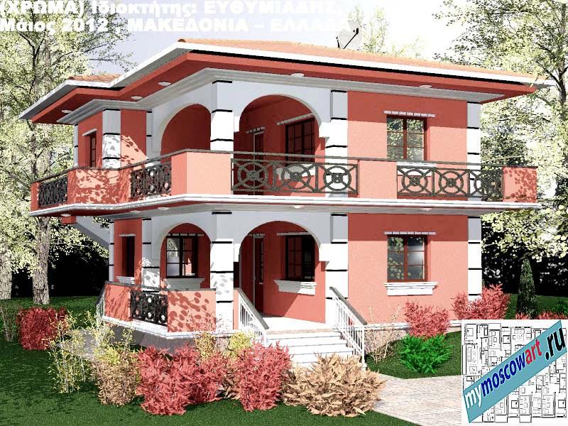 Проект дома - Ефимиадиc (Город Аспровальта - Греция) (24)