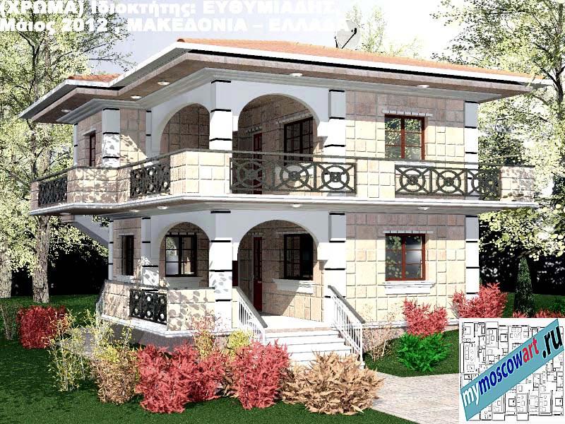 Проект дома - Ефимиадиc (Город Аспровальта - Греция) (25)