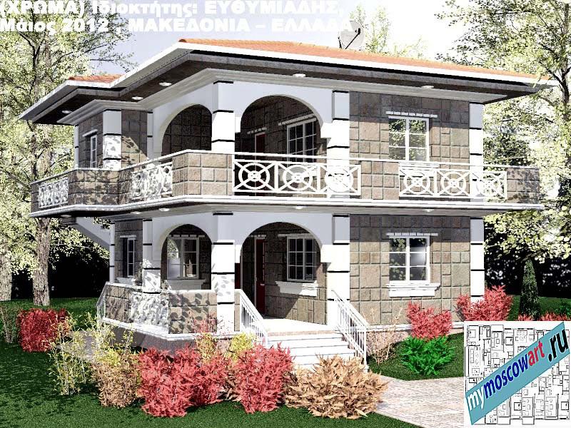 Проект дома - Ефимиадиc (Город Аспровальта - Греция) (26)