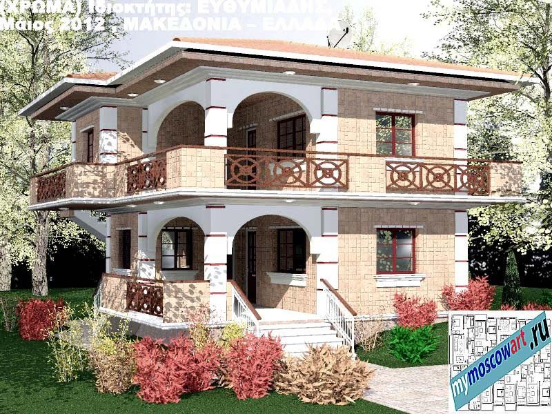 Проект дома - Ефимиадиc (Город Аспровальта - Греция) (27)
