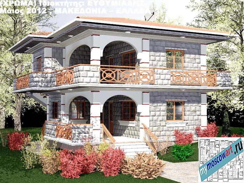 Проект дома - Ефимиадиc (Город Аспровальта - Греция) (28)
