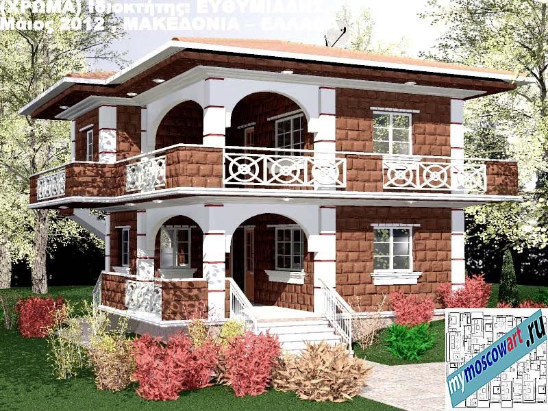 Проект дома - Ефимиадиc (Город Аспровальта - Греция) (29)