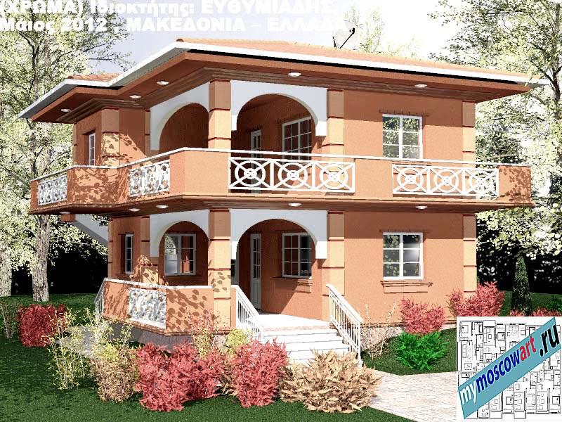 Проект дома - Ефимиадиc (Город Аспровальта - Греция) (30)